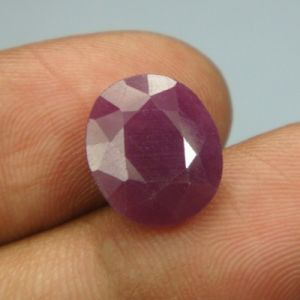 Lab Certified 6.32ct{7.02 Ratti}natural Untreated Ruby/manek(surya)