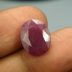 Lab Certified 6.83ct{7.58 Ratti}natural Untreated Ruby/manek(surya)