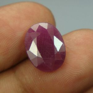 Lab Certified 6.40ct{7.11 Ratti}natural Untreated Ruby/manek(surya)
