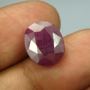 Lab Certified 7.18ct{7.97 Ratti}natural Untreated Ruby/manek(surya)