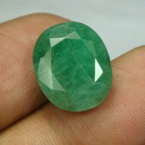 Lab Certified 9.65cts Natural Untreated Emerald/panna