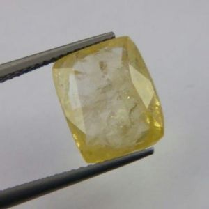 Sapphire Stones - Certfd 6.70ct Natural Ceylon Yellow Sapphire/pukhr