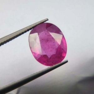 Top Grade 6.89ct Lab Certified Natural Ruby/manek
