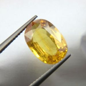 Top Grade 4.63cts Natural Top Yellow Sapphire/pukh