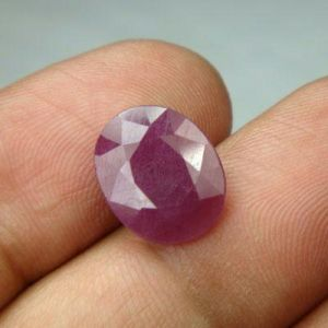Lab Certified 4.89 Ct Natural Untreated Ruby/manek