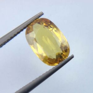 Lab Certified Top Grade 3.05cts Natural Yellow Sapphire/pukhraj