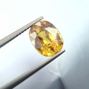 Jewellery - Lab Certified  Top Grade 4.28Cts Natural Yellow Sapphire/Pukhraj