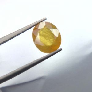 Lab Certified Top Grade 4.25cts Natural Yellow Sapphire/pukhraj