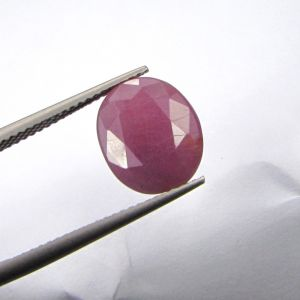 Lab Certified Premium Grade 6.90cts Unheated/untreated Natural Ruby/manek