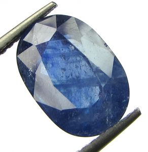 Lab Certified 5.48cts Transparent Natural Blue Sapphire/neelam(for Shani)