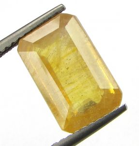 Lab Certified 5.93cts Natural Yellow Sapphire/pukhraj