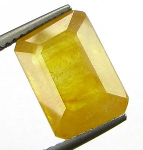 Lab Certified 6.99cts Natural Yellow Sapphire/pukhraj