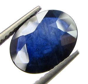 Top 3.47 Ct Certified Natural Blue Sapphire/neelam