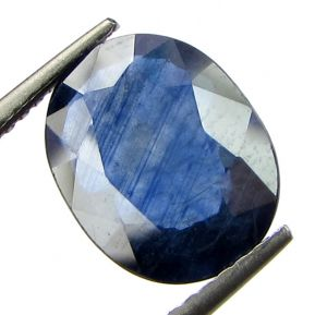 Top 3.82 Ct Certified Natural Blue Sapphire/neelam