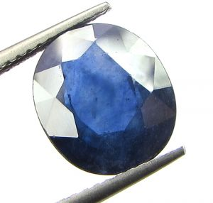Top 5.31 Ct Certified Natural Blue Sapphire/neelam