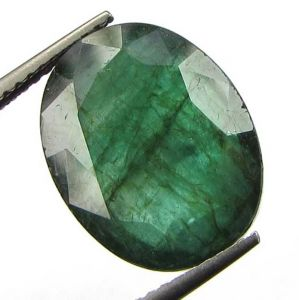 8.60ct Certified Zambian Dark Green Emerald/panna