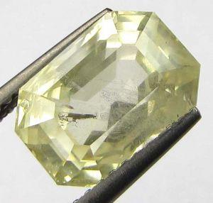 Sapphire Stones - CERTFD 5.85Ct NATURAL CEYLON YELLOW SAPPHIRE/PUKHR