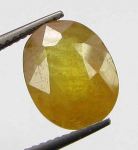 Lab Certified 6.53cts Natural Yellow Sapphire/pukhraj