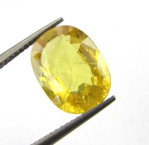 Top Grade 5.62cts Natural Top Yellow Sapphire/pukh