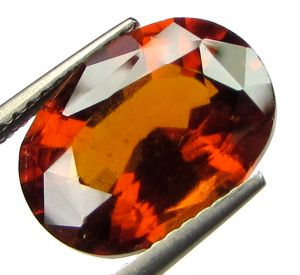 Top Grade Certified 6.20cts Natural Ceylon Gomedh/hessonite Garnet