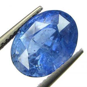 Sapphire Stones - IDI Certified 5.42ct{6.02 Rati}Unheated Natural Ceylon Blue Sapphire