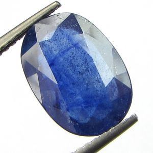 Lab Certified 4.81cts Transparent Natural Blue Sapphire/neelam(for Shani)