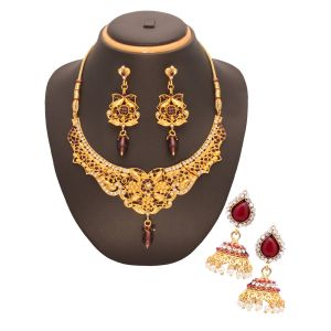 Vendee Fashion Party Wear Combo Jewellery (1450)
