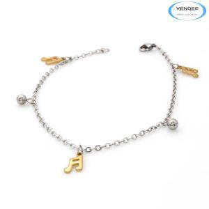 Vendee Fashion Bangles, Bracelets (Imititation) - Vendee Gold Silver Bracelet 6439 A
