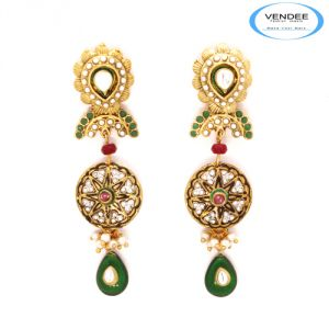 Vendee Fashion Polki Earring Jewelry 6940