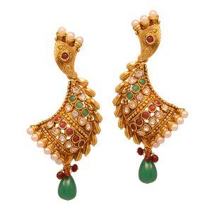 Vendee Fashion Women's Clothing - Vendee Wedding wear fashion earrings (8010)