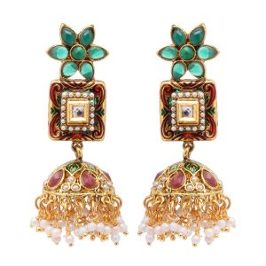 Vendee Fashion Dangler Jhumki Earrings 8079