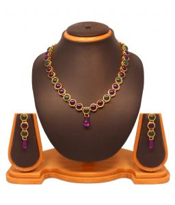 Vendee Fashion Kundan Necklace Set 8177