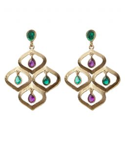 Vendee Fashion Elegant Kundan Work Earrings (8201)