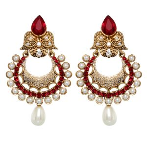 Vendee Fashion Pearl Studded Earrings (8390)