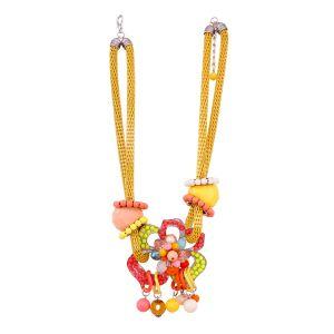Vendee Fashion Jewellery - Vendee Fashion multicoloured embellished threaded neckpiece (8589)
