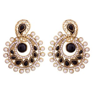 Vendee Elegent Fashion Black Dangle Alloy Zinc Earrings For Women