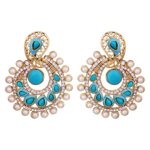 Vendee Elegent Fashion Blue Dangle Alloy Zinc Earrings For Women