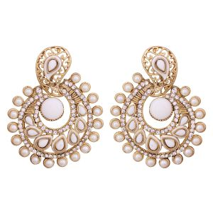 Vendee Elegent Fashion Whitish Dangle Alloy Zinc Earrings For Women