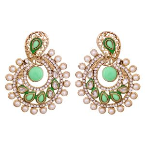 Vendee Elegent Fashion Neon Green Dangle Alloy Zinc Earrings For Women