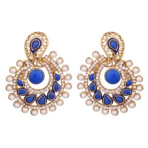 Vendee Elegent Fashion Neon Royal Blue Dangle Alloy Zinc Earrings For Wome