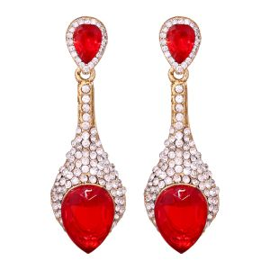 Sparkiling Diamond Dangler/drop Alloy Earrings For Women 8653b