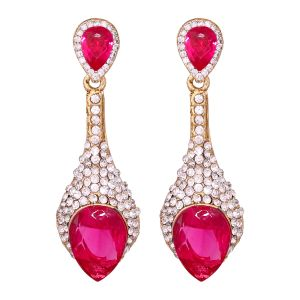 Vendee Sparkiling Diamond Dangler/drop Alloy Earrings For Women 8653e