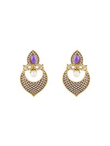 """vendee Fashion Purple Brass Earring"""