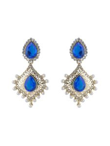 Vendee Fashion Jali Work Pearl Studded Earrings