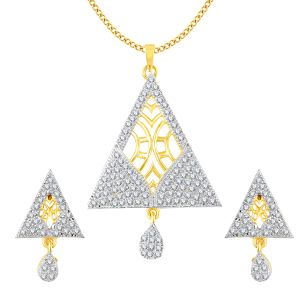 Vendee Fashion Triangle Shape American Style Pendant Set For Women