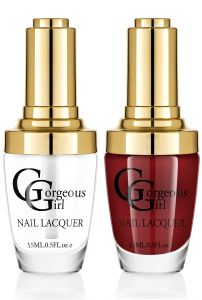 Glossy Nail Lacquer Pack Of 2 -by Gorgeous Girl (code -nl-01- 04)