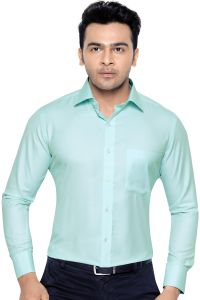 Corporate Club Po 001 Beetel Mens Formal Office Wear Shirt Green# S (code - Beetel 01)