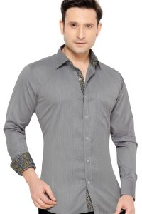 Mens Formal Office Wear Shirt Black By Corporate Club (code - 50034 01)
