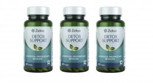 Zidaa Herbal Supplement For Detox, 60 Tablets Each, Pack Of 3 (code - Zidaa-detox-p3)