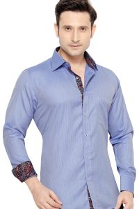 Mens Formal Office Wear Shirt Royal Blue By Corporate Club (code - 50034 04)